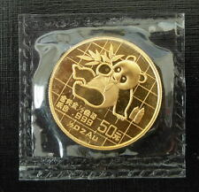 China 1989 Gold 1/2 oz Panda Small Date 50 Yuan Original Mint Sealed BU