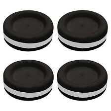 Anti Vibration Pieds Pour Machines à laver Amortisseurs en Caoutchouc Noir Pack de 4