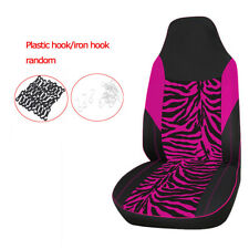 Single Car Front Seat Cover Zebra Print Pink for Most Bucket Seat Car Truck Suv