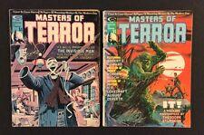 MASTERS OF TERROR #1 - 2 Comic Book Magazine IT! Sturgeon INVISIBLE MAN HG Wells