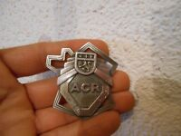 Ancienne Broche ACR Automobile Club du Rhône Carte France aluminium