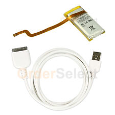 NEW Battery+USB Data Sync Cable Cord for Apple iPod 6th Gen Classic 80GB 50+SOLD