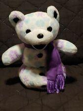 "Liquid Blue Grateful Dead Chillin Snowman Bear Stuffed Plush Bean 6"""