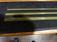 SGlass Fiberglass fly rod blank 6' 3-piece 2/3wt. Oliveherb color Tip over butt