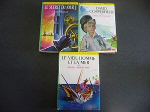 3 LIVRES D' AVENTURE ENFANT COLLECTION BIBLIOTHÈQUE VERTE HACHETTE VINTAGE 1960