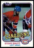 1981-82 TOPPS HOCKEY SET BREAK STEVE SHUTT MONTREAL CANADIENS #34