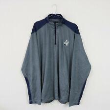 Vintage Dark Grey Georgetown Hoyas Champion 1/4 Zip Sweatshirt Jumper | XL (27)