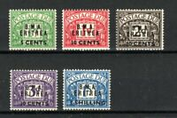 British Occupation of Italian Cols - Eritrea BMA surch and opt Postage Due set M