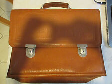 Vintage 1950's Leather Brief Case Brown