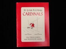 1961 St. Louis Cardinals Football Media Guide