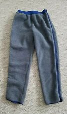 RARE VINTAGE PATAGONIA MEN'S HEAVY FLEECE FULL ZIP PANTS COLOR GRAY SIZE LARGE