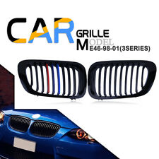 M Color Front Kidney Grille Grill for BMW E46 2 Door Coupe Convertible 1999-2003