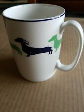 Kate Spade by Lenox Wickford Dachshund Coffee Mug, blue and green