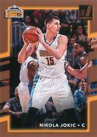Nikola Jokic 2017-18 NBA Panini Donruss Basketball Base Card #37 Denver Nuggets
