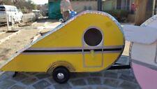 Vintage Style Teardrop Trailer Birdhouse - Retro Camper Birdhouse-Yellow