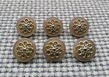 8pc 22mm Antique Pewter Silver Metal Blazer Coat Cardigan Knitwear Button 3713