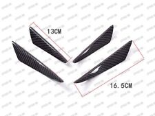 4pc Glossy Real Carbon Fiber Front Canards Bumper Fins Wind Spoilers for Hyundai