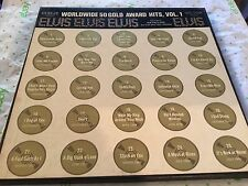 "Elvis vinyl album set "" worldwide 50 gold hits "" volume one"