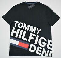 NWT Men's Tommy Hilfiger Denim  Short-Sleeve Tee (T) Shirt Black Medium M