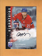 2007 08 BE A PLAYER SIGNATURES AUTO # S-CH CHRIS HIGGINS MONTREAL CANADIENS