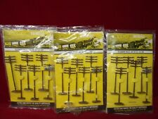 LOT OF HO SCALE TYCO TELEPHONE POLES ON ORIGINAL CARDS