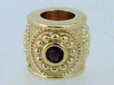 Bd030 Genuine 9ct SOLID Yellow Gold NATURAL Amethyst Bead Charm