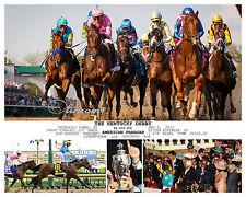 AMERICAN PHAROAH 2015 KENTUCKY DERBY TRIPLE CROWN WINNER 11 x 14 PHOTO