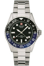 Swiss Alpine Military By Grovana Men's Watch Gmt 7052.1132 Swiss Made New