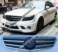 MERCEDES C w204/c204 Grill SALOON/COUPE/estate, due pinne AMG c63 Look, BLK + CROMO