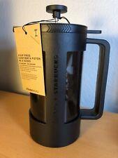 NEW, STARBUCKS 8 CUP FRENCH PRESS BY BODUM, Plastic Beaker, Locking Lid