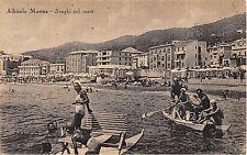 4633 ALBISOLA MARINA (SAVONA) SVAGHI SUL MARE, ANIMATA, BARCHE, PATTINO, VG 1947