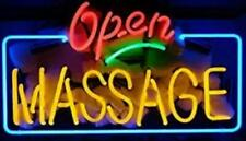 "New Open Massage Neon Light Sign 24""x20"" Beer Bar Artwork Real Glass Wall Decor"