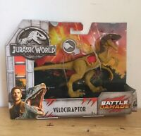 Mattel Jurassic World Battle Damage Velociraptor (Brown) Action Figure