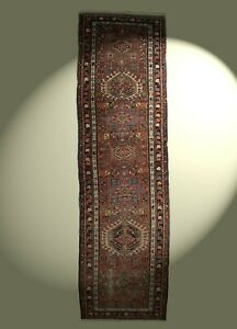 Anik Karadja Heriz Teppich 316x92 cm Pflanzenfarben Läufer Galerie rug tapis