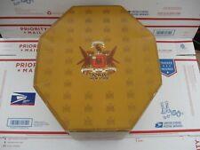 "New Price! Vintage 1950'S Knox New York 15"" Octagon Hat Box Nice Display Piece"