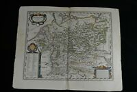 "1638 Large Antique Map Germany ""Germaniae Veteris Typus"" Blaeu after A. Ortelius"