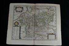 "1638 Large Antique Map Germany ""Germaniae Veteris Typus"" Blaeu after A. Ortelius"