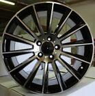 18x8 5x112 ET35 CB66.6 Black Machined Face Benz ( Set of 4 Wheels )