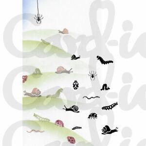 Card-io Bugs and Snails Majestix Clear Peg Stamps CDMABU-02