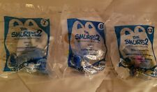 McDonald's Happy Meal The Smurfs 2 Action Figure Lot of 3 HEFTY,VANITY,SMURFETTE