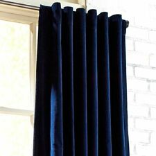 Urban Outfitters Magical Thinking Navy Blue Velvet Curtain Panel 50x84