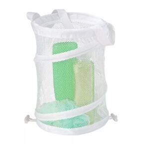 Honey-Can-Do HMP-01138 Mesh Pop-Open Shower Caddy, White New