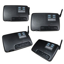 Intercom 4 Channel Digital Wireless Office Home Store Security 4 Units US SELLER