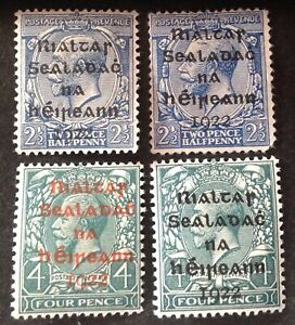Ireland 1922 4 x stamps mint hinged