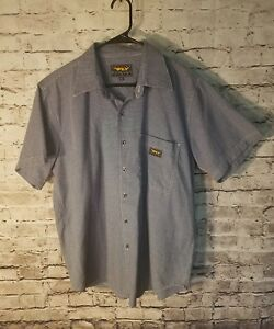 Genuine fly Racing Apparel Shirt Small Button up Motocross USA Blue White  t21