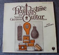 Stefan Grossman, how to play ragtime guitar,  LP - 33 tours
