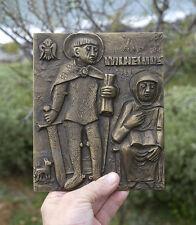 St. William of Gellone, Aquitania, St. Benedict, Weinert, HUGE plaque, 200x15mm