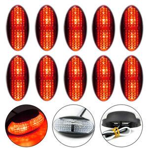 10x Red 4LED Side Clearance Marker Light Car Truck Tail Trailer LED Lamp 12V-24V