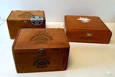 Three (3) Beautiful Wooden Cigar Boxes