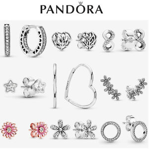 Genuine Silver Pandora Sparkling Earrings S925 ALE New Gift With Box